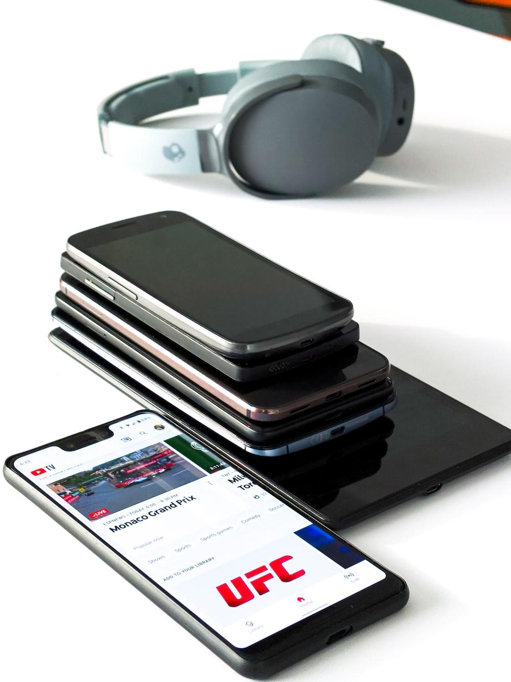 piled phones