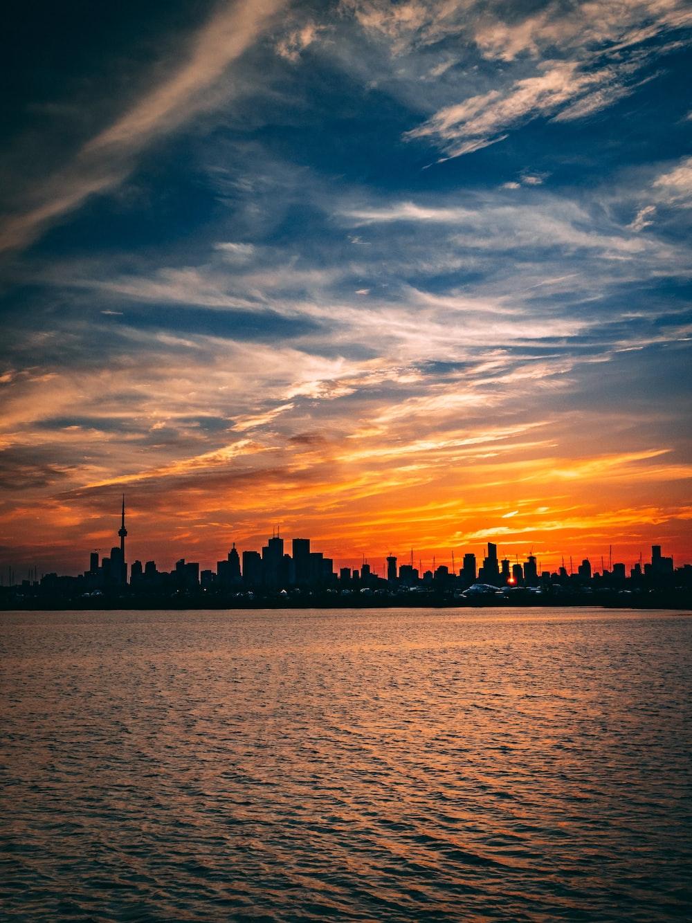cityscape under golden hour