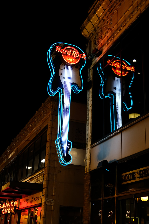 Hard Rock guitar signage