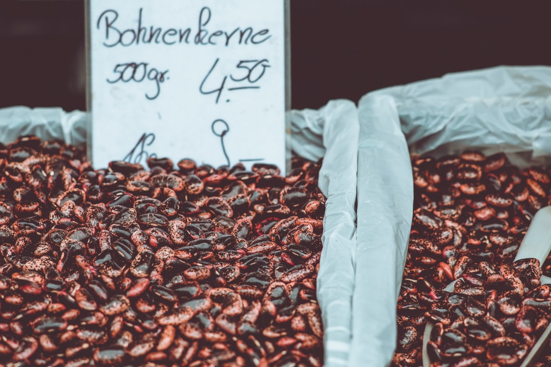 Fresh bio bean seeds. Made with Canon 5d Mark III and analog vintage lens, Leica Elmarit-R 2.8 135mm (Year: 1987)