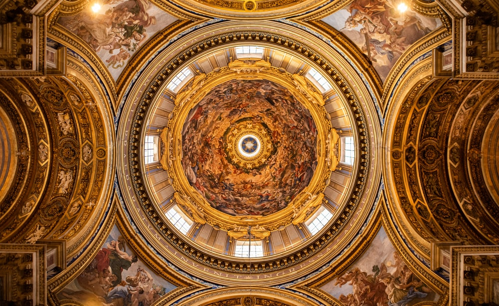 low-angle photography of building dome