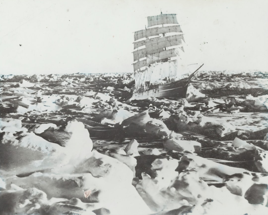 Lantern Slide - the Ship Discovery, Superimposed On Heavy Pack Ice, Banzare Voyage 1, Antarctica, 1929-1930 photographer: Frank Hurley - unsplash