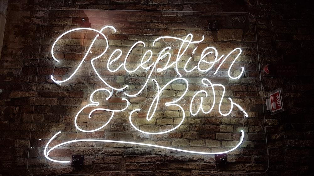 reception and bar signage