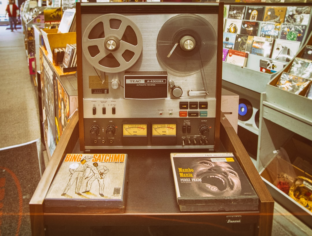 This is the king of record stores with everything from 45s, 78s, vinyl, CD, tape and other stuff. Great selection. But I saw this old school tape player this last visit and feel like you can't get more retro than that with music recordings.