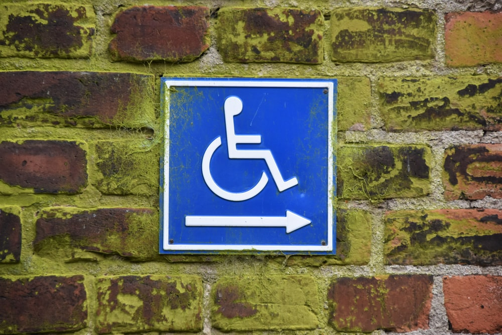 PWD sign on brick wall