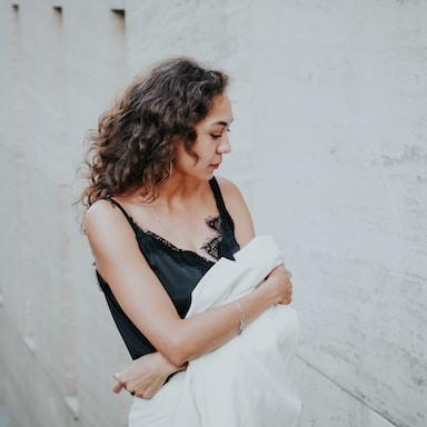 women's black camisole top