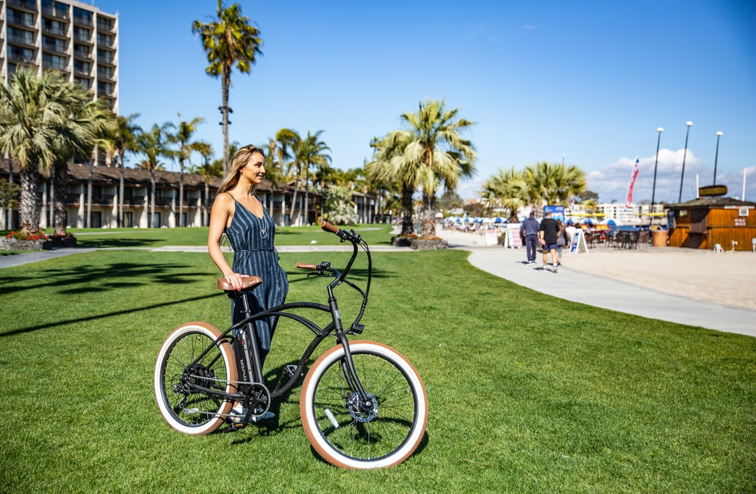 Tower Electric Bike Ready For A Ride On the Boardwalk. - unsplash