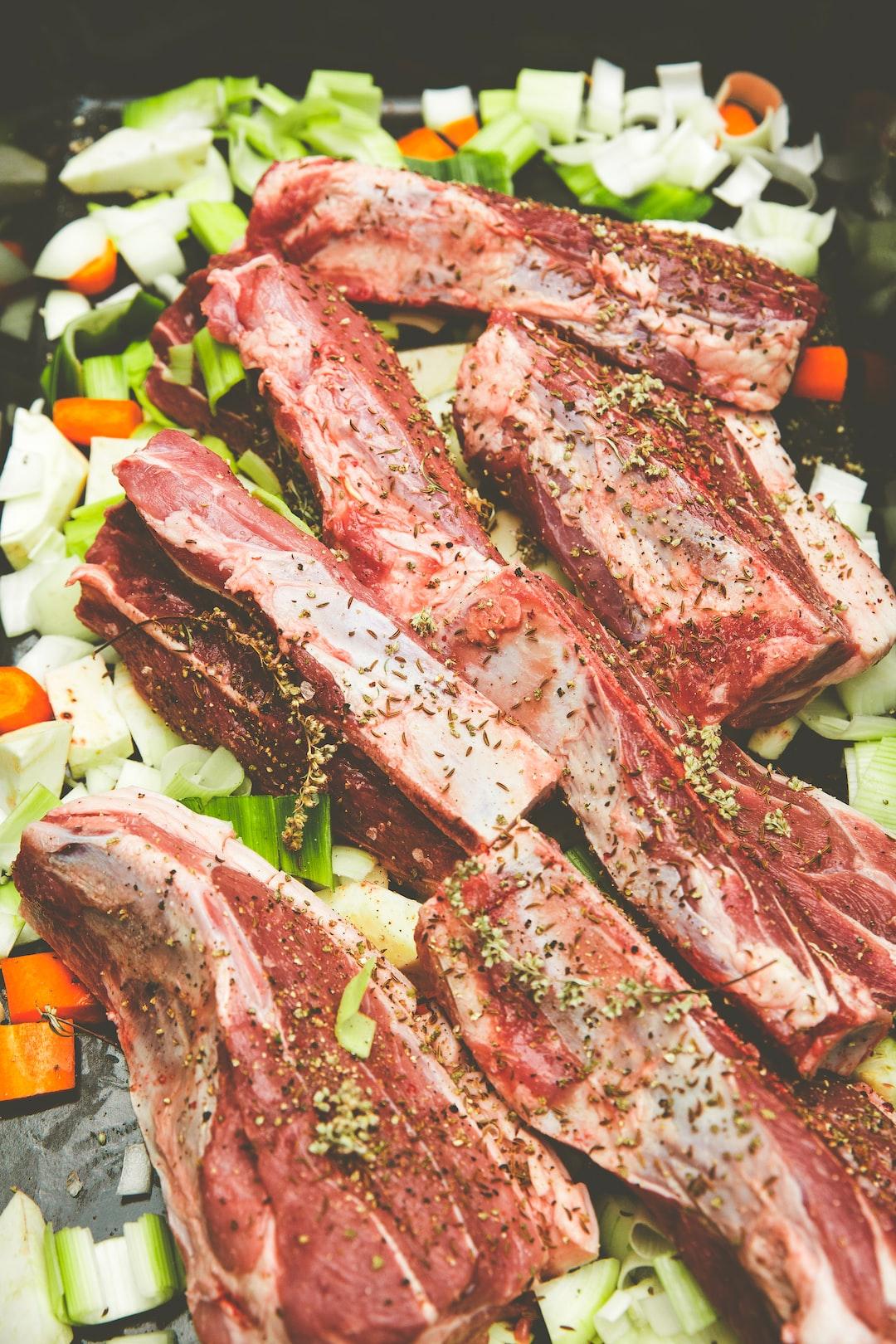 "Raw meat ready for baking oven. Franconian gastronomic specialties called ""Schäufele"" (pork shoulder)"
