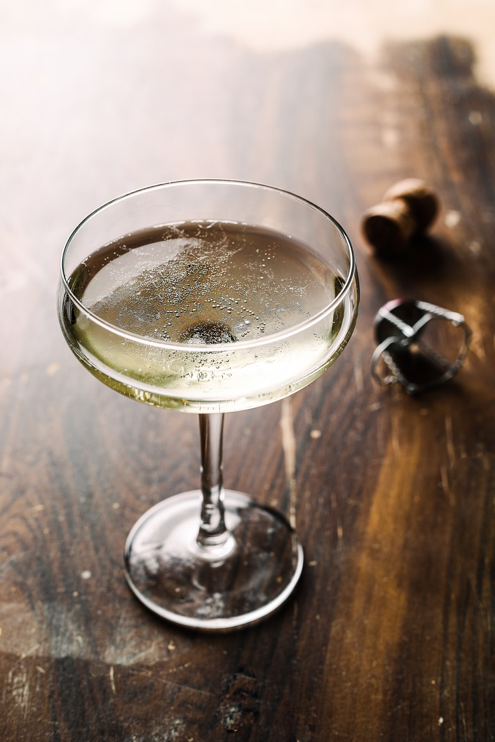 champagne filled glass cup