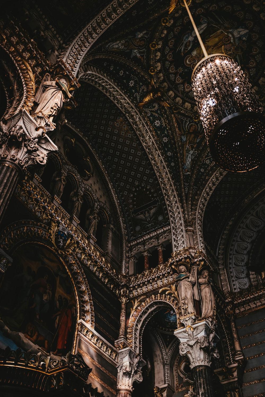 chandelier inside building