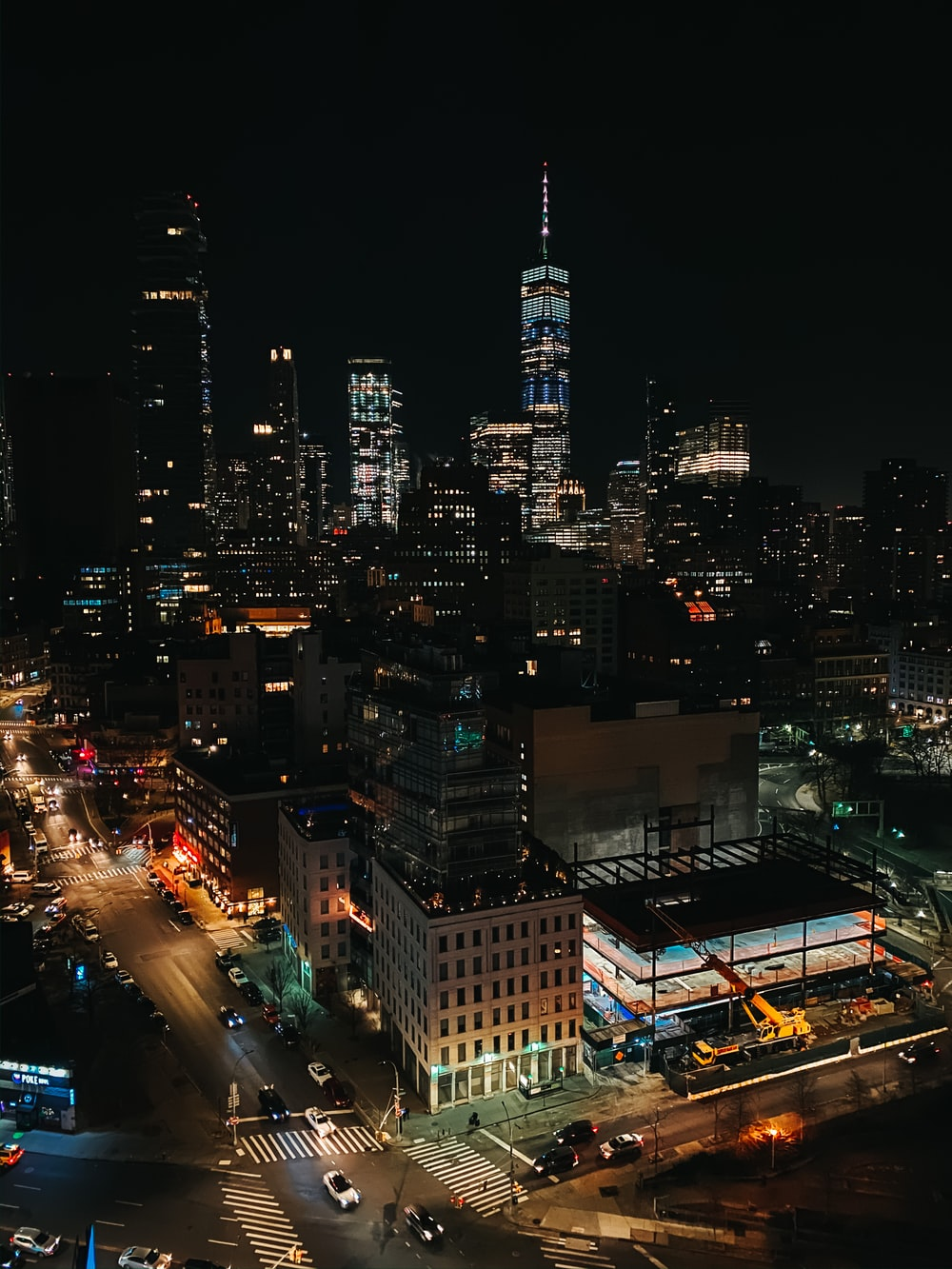 lighted metropolitan building during nighttime