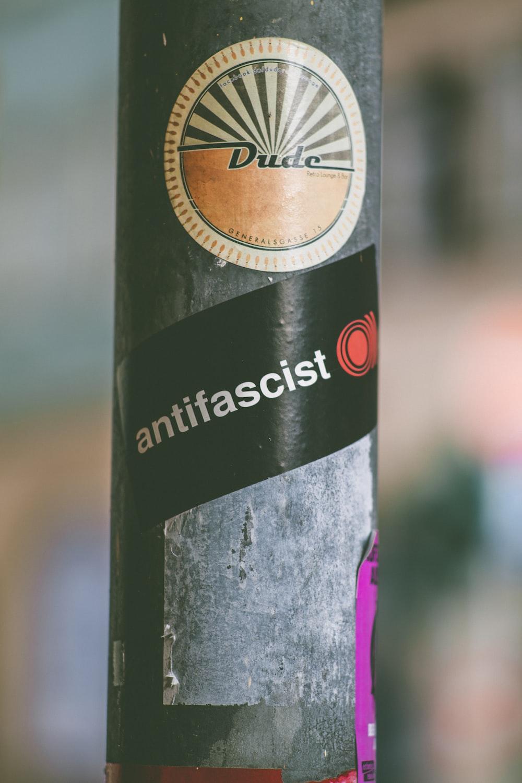 Dude Antifascist sticker