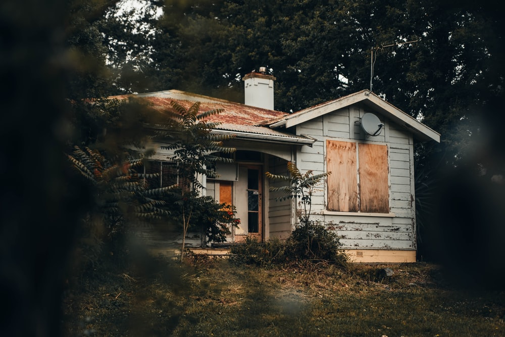 white and brown wooden house photograph