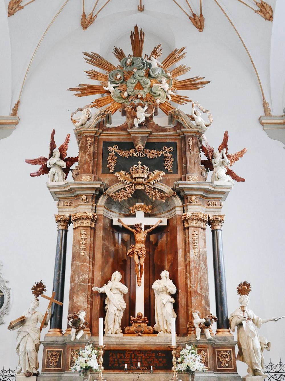 brown church altar