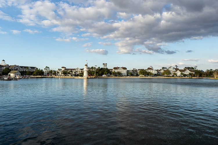 Disney Yacht Club as seen across the water