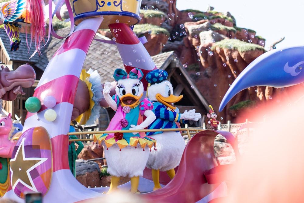 Disney Donald Duck and Daisy mascots