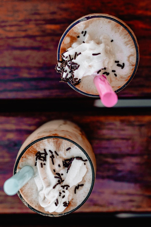 two milkshakes