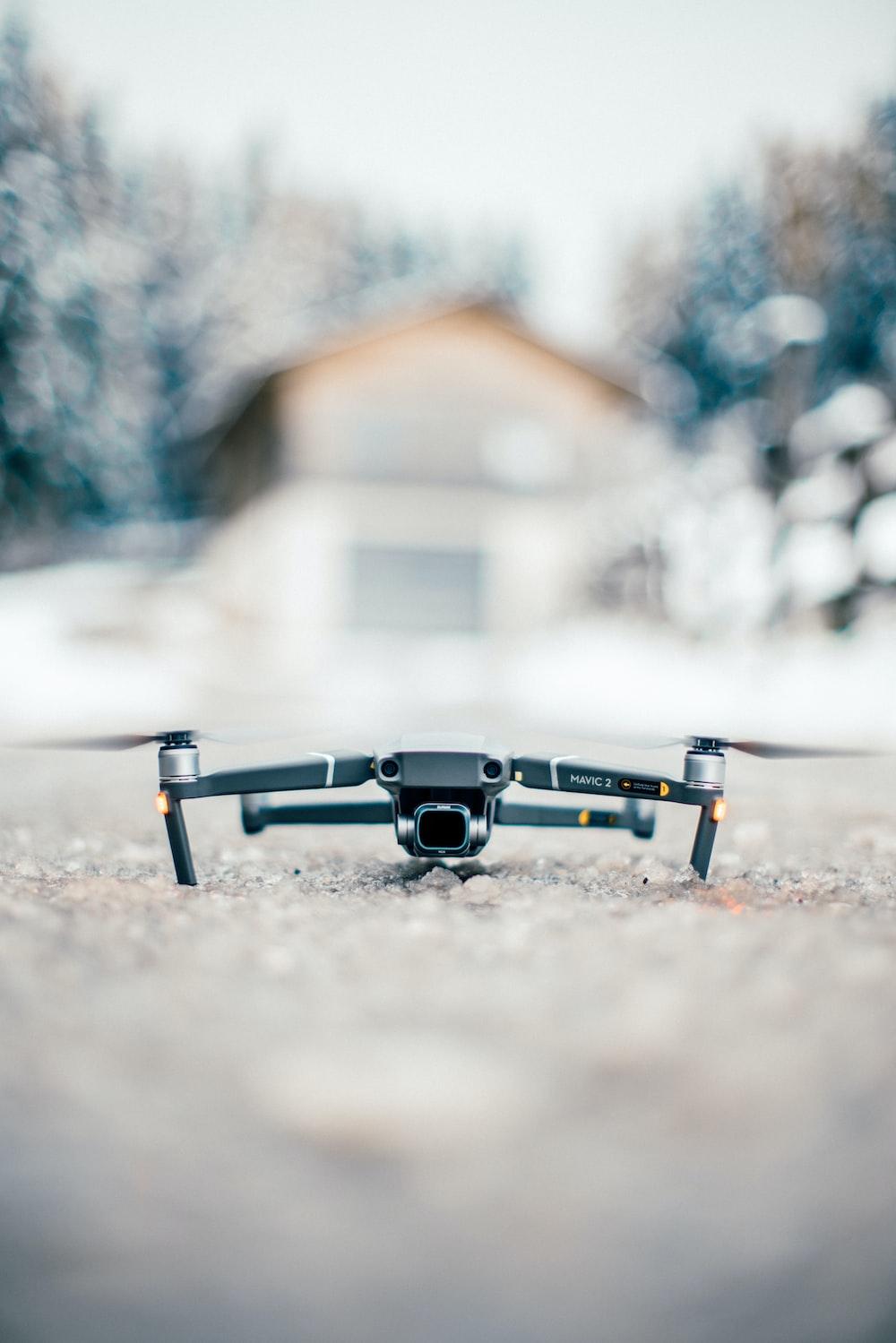gray quadcopter drone