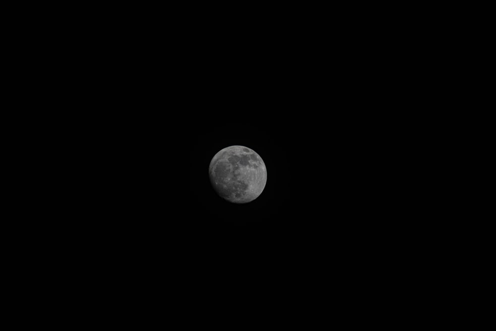 gray full moon