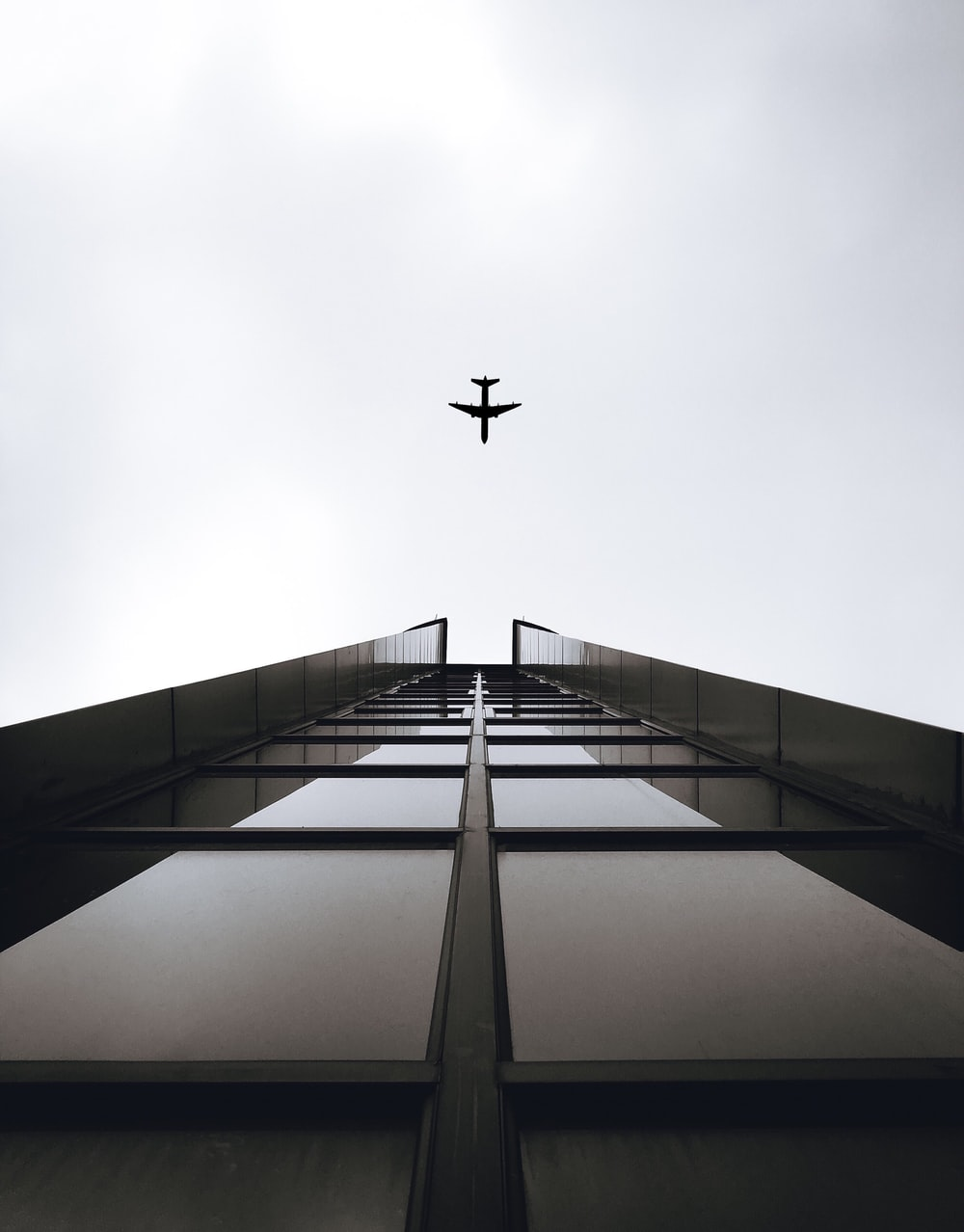 airplane on mid air
