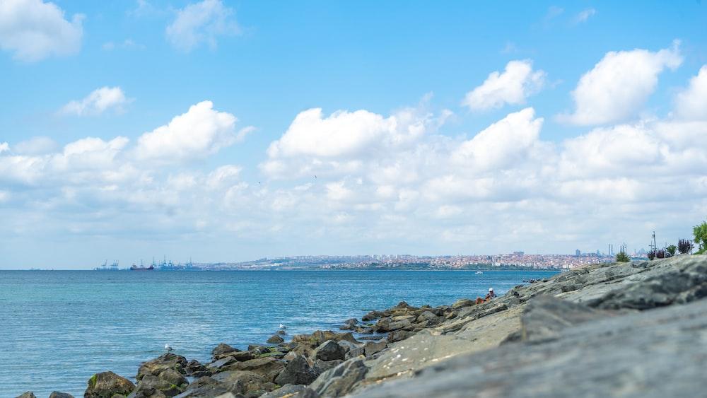 shore near rocks
