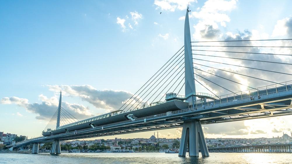 suspension bridge during daytime