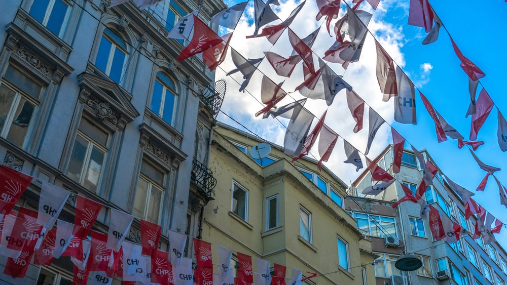 red and white pennants