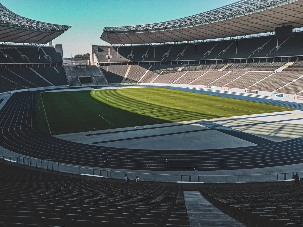 architectural photography of football field