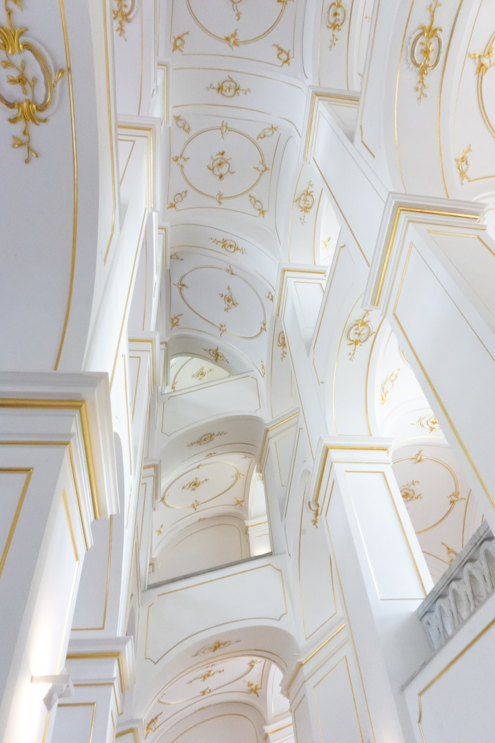 white and brown building ceiling