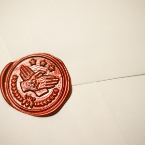round brown stamp