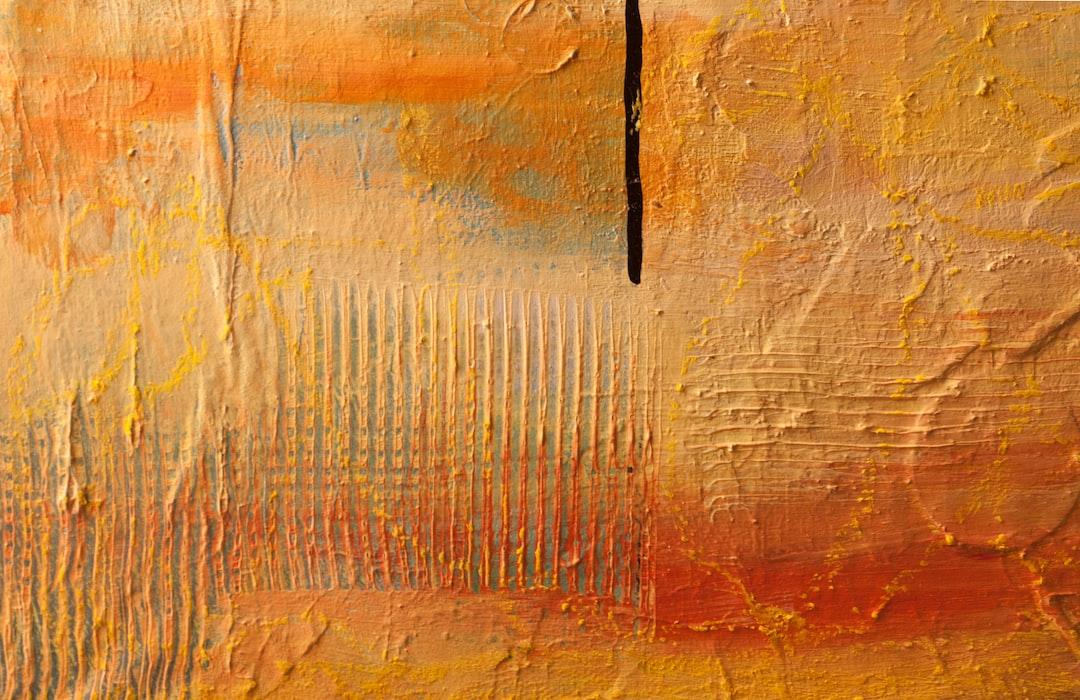 Orange painting/texture