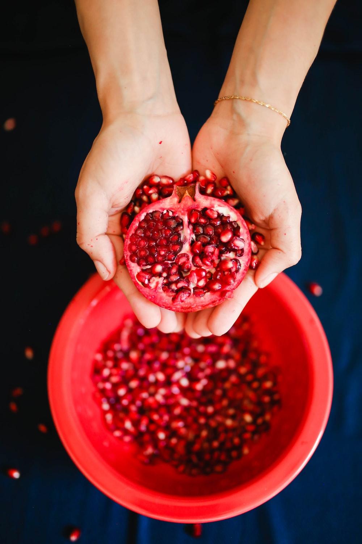 red sliced dragon fruit