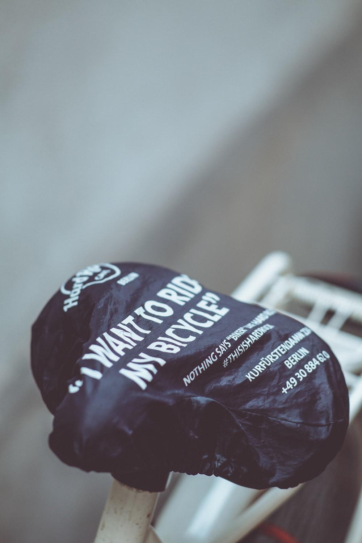 black bicycle saddle