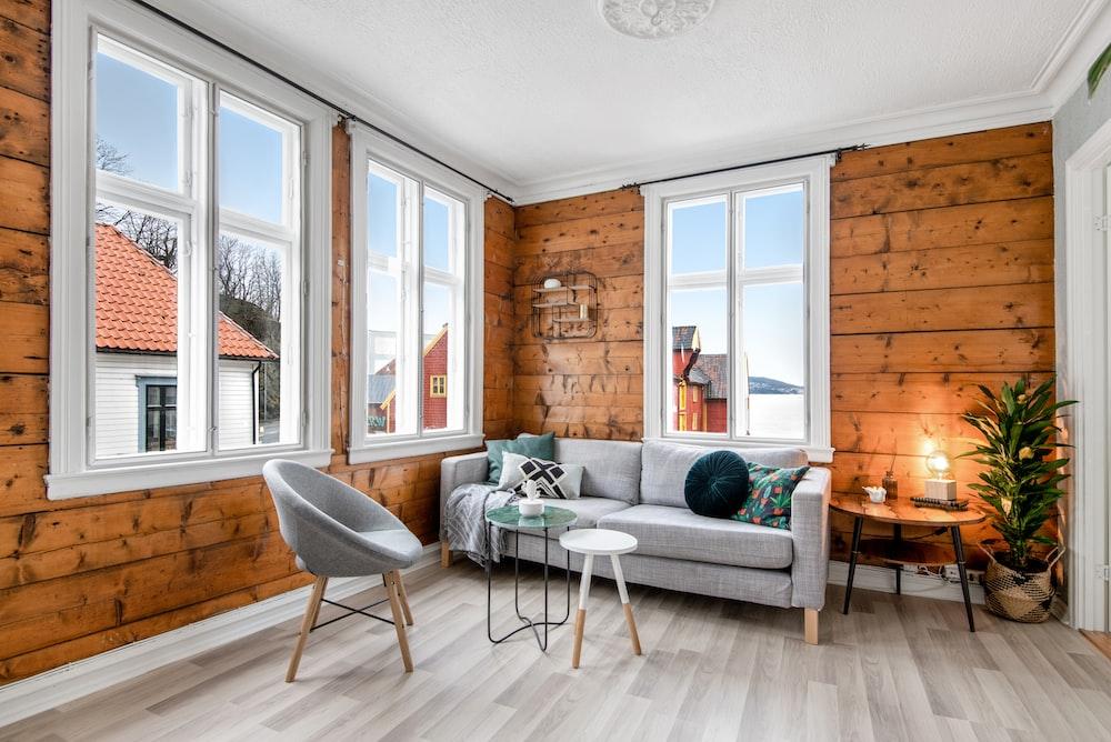 gray modern idea living room set view