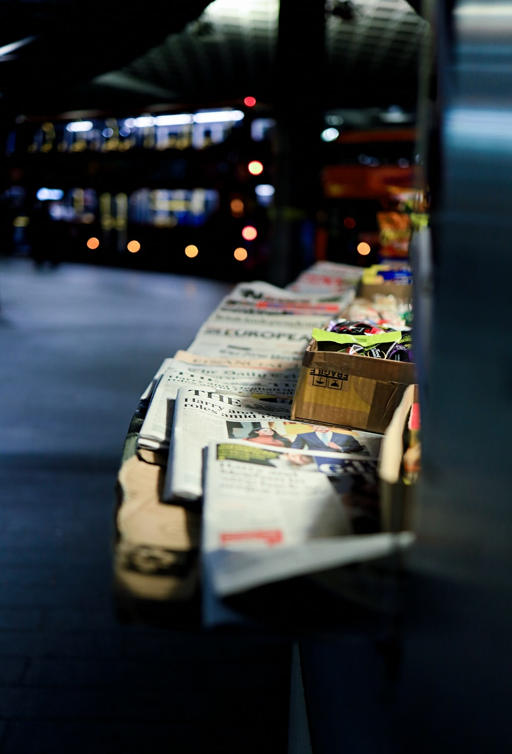 newspaper on stall