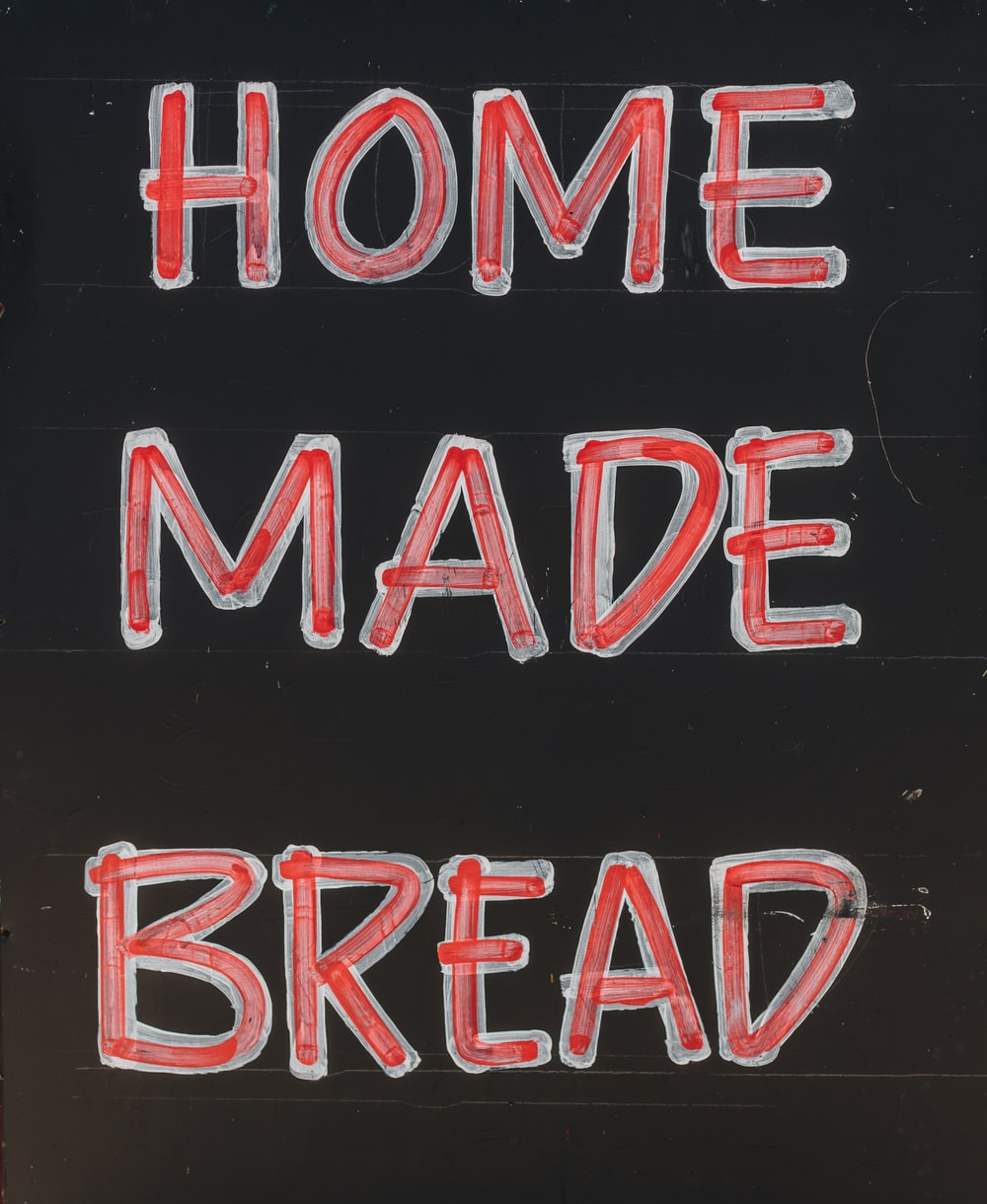 home made bread signage