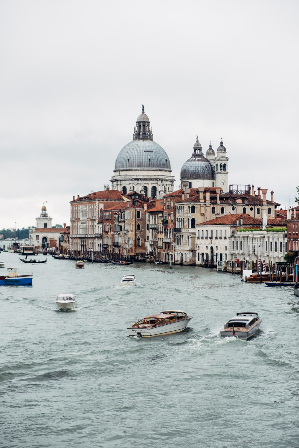 boats on sea viewing Grand Canal From Rialto Bridge, Italy during daytime