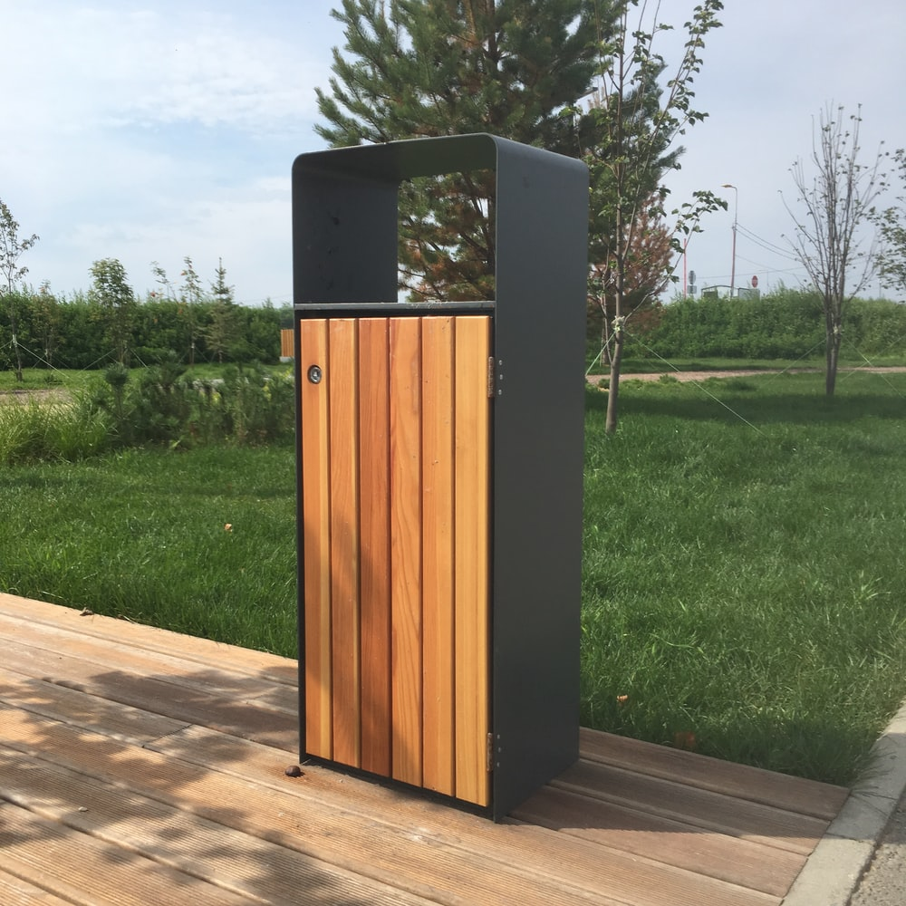 black and brown wooden potable cabbinet