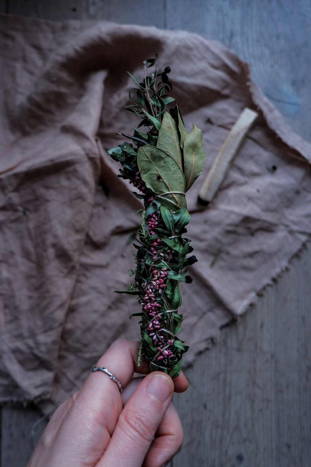 Start of the year cleansing with herbal smudge stick.