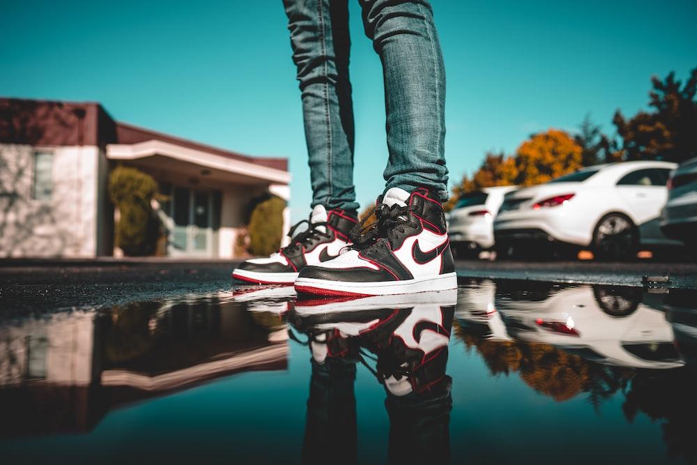 white-red-and-black Air Jordan 1's