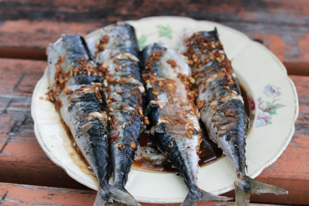 fish on white plate