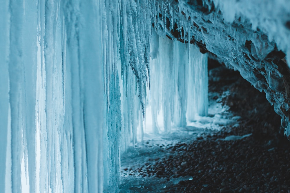 white ice wall