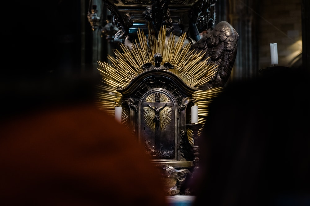 photography of brown altar