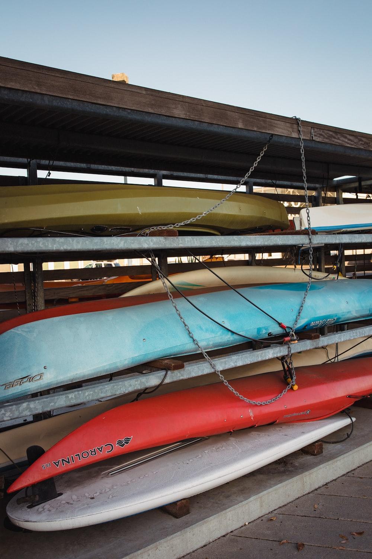 kayak on rack