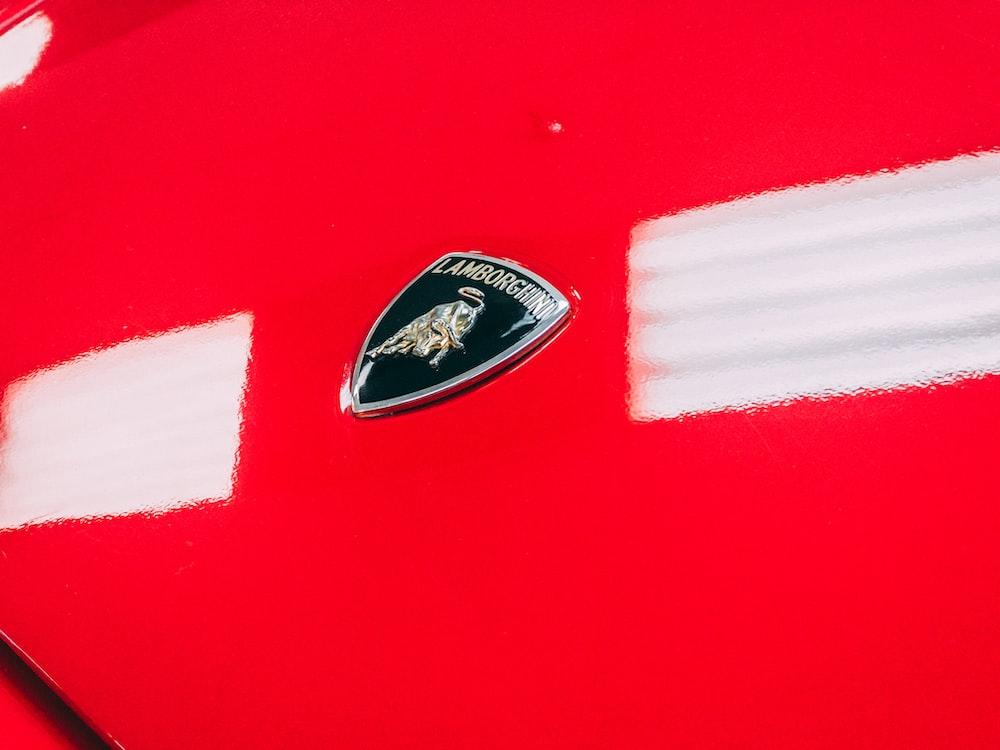 black Lamborghini logo