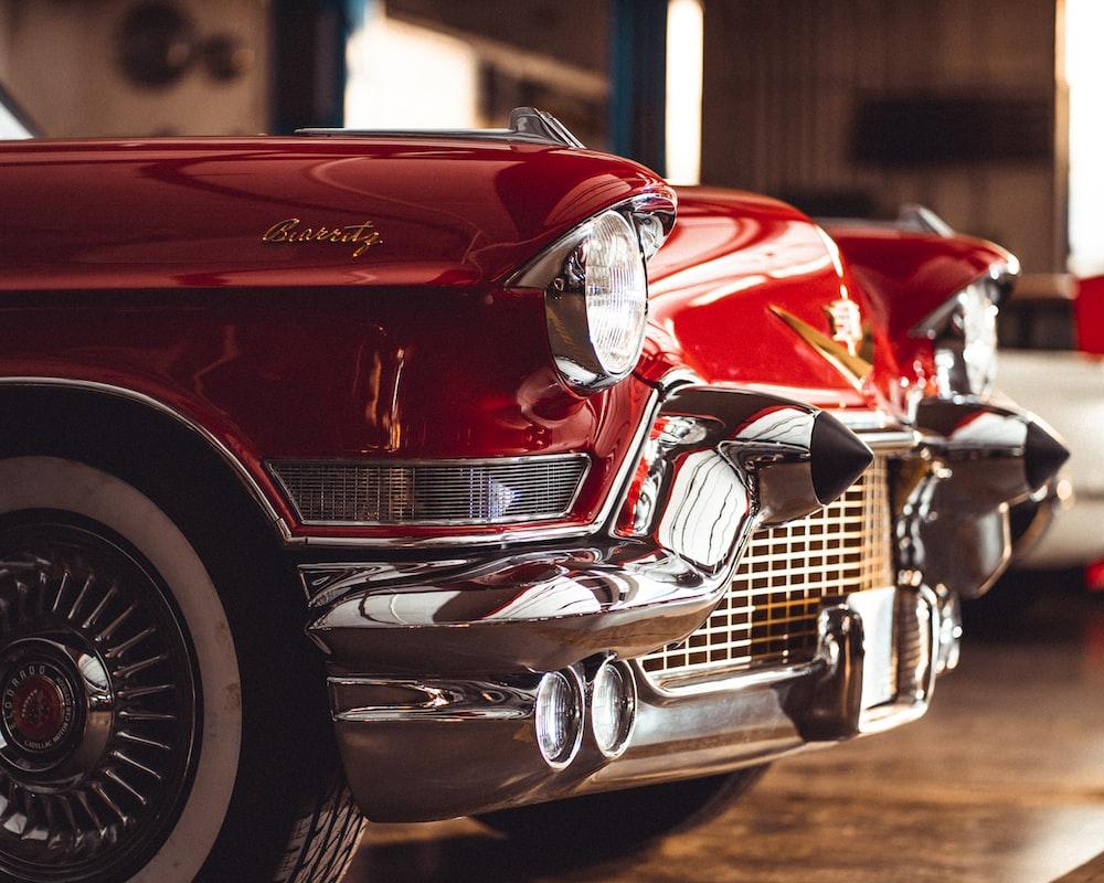 vintage red vehicle