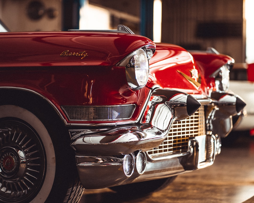 Classic Cadillac Red Convertible