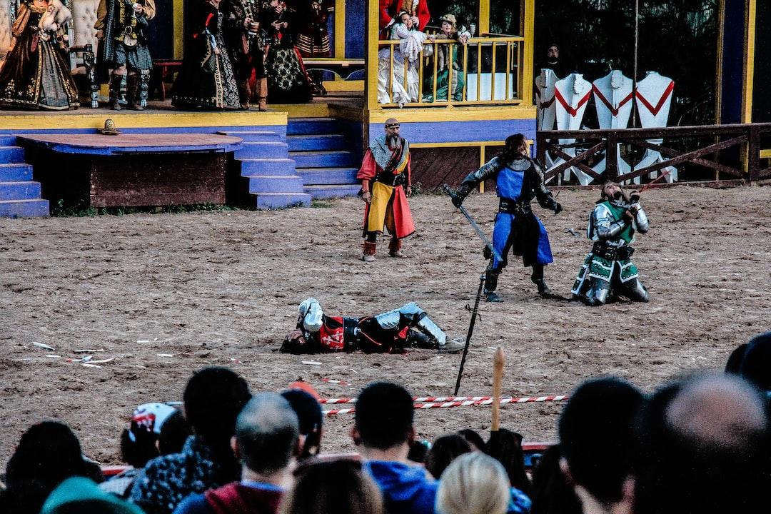 Texas Renaissance Festival battle.