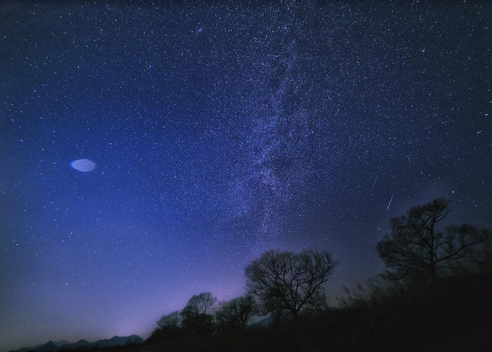 view of galaxy at night