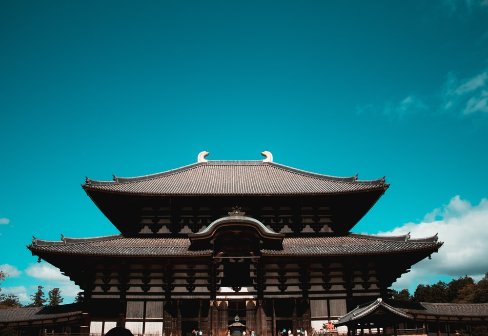 gray and brown wooden temple